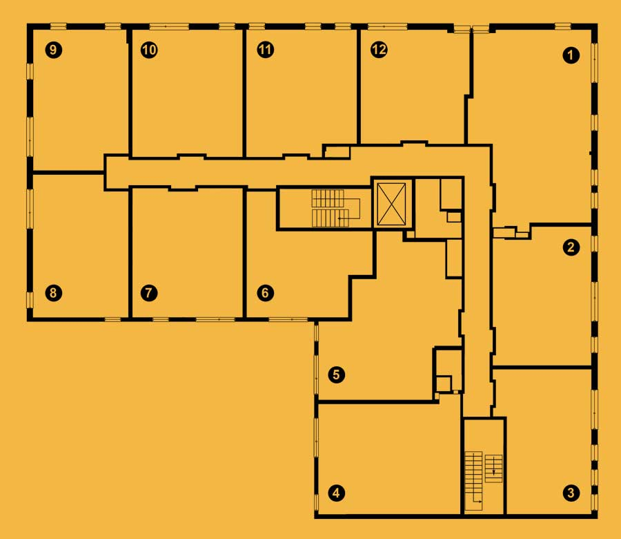 Second level floor plan of The 801 apartments for rent in Oak Park, IL